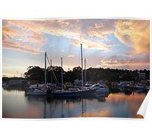 Tweed Marina Sunset Poster