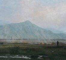 Smoky valley. Kirghizia. by v0ff