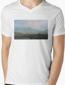 Smoky valley. Kirghizia. Mens V-Neck T-Shirt