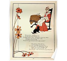 The Glad Year Round for Boys and Girls by Almira George Plympton and Kate Greenaway 1882 0030 Pretty Miss Jenny Poster