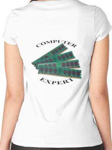 Computer expert Women's Fitted Scoop T-Shirt