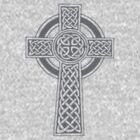 Celtic High Cross Greyscale by taiche