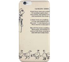 Miniature Under the Window Pictures & Rhymes for Children Kate Greenaway 1880 0020 Cackling Geese iPhone Case/Skin