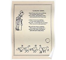Miniature Under the Window Pictures & Rhymes for Children Kate Greenaway 1880 0020 Cackling Geese Poster