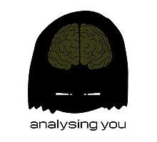 analysing you - dark Photographic Print