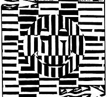 Smiley Face Illustion Maze by Yonatan Frimer