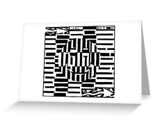 Smiley Face Illustion Maze Greeting Card
