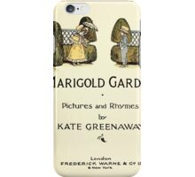 Marigold Garden Pictures and Rhymes Kate Grenaway 1900 0007 Title Plate 2 iPhone Case/Skin