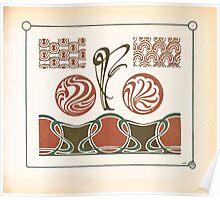 Maurice Verneuil Georges Auriol Alphonse Mucha Art Deco Nouveau Patterns Combinaisons Ornementalis 0057 Poster
