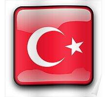 Turkish Flag, Turkey Icon Poster