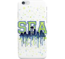 Seattle Watercolor 12th Man Painting Seahawks Art iPhone Case/Skin