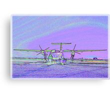 Dash 8 aircraft with soft pastel colours added Canvas Print