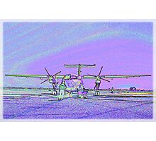 Dash 8 aircraft with soft pastel colours added Photographic Print