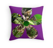 Bug Flower 2 Throw Pillow