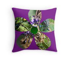 Bug Flower 3 Throw Pillow