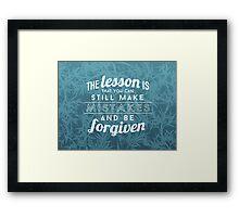 Robert Downey Jr. Quote Framed Print