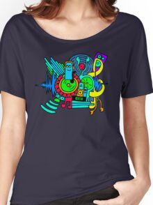 Music Print Women's Relaxed Fit T-Shirt