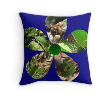 Bug Flower 5 Throw Pillow