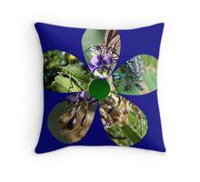 Bug Flower 6 Throw Pillow