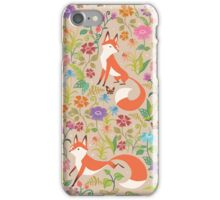 Flower Foxes iPhone Case/Skin