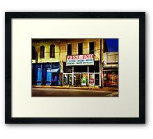 West End Alcohol store... Framed Print