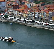 The quay side Oporto Portugal by Paul Pasco