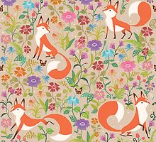 Flower Foxes by lolliegag