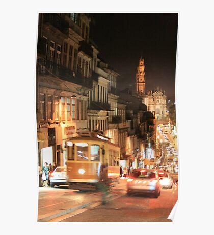 Rush hour Oporto Portugal Poster
