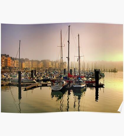 Sailing Yachts Dieppe Harbour, France Poster