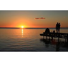 Sunset in Mauritius Photographic Print