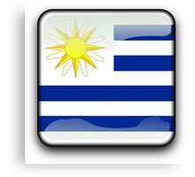 Uruguay Flag, Icon Canvas Print