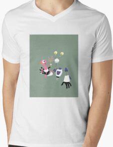 ROBOT BABYSITTER Mens V-Neck T-Shirt