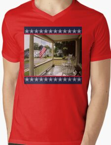 Small Town USA ~ Fourth of July Mens V-Neck T-Shirt