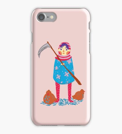 Lady Death and her Chickens iPhone Case/Skin