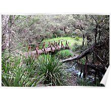 The Bridge to Tranquility, Sheba Dams, Nundle NSW Poster