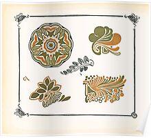 Maurice Verneuil Georges Auriol Alphonse Mucha Art Deco Nouveau Patterns Combinaisons Ornementalis 0038 Poster