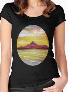 'Pebbles on the Beach - Supernova' Women's Fitted Scoop T-Shirt