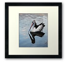 Me and my shadow make contact Framed Print