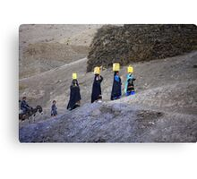The carriers of water (Afghanistan) Canvas Print