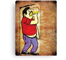 Drinking Beer T-Shirt - Stickers - Notebooks Canvas Print