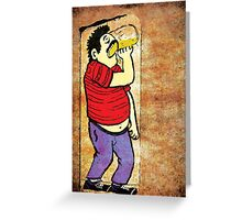 Drinking Beer T-Shirt - Stickers - Notebooks Greeting Card