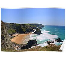 """"""" Blue Lagoons, Pentire Steps """" Poster"""