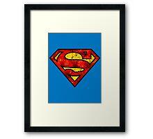 Floral Superman/Supergirl Framed Print