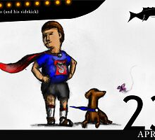 April 23rd - My hero (and his sidekick) by 365 Notepads -  School of Faces