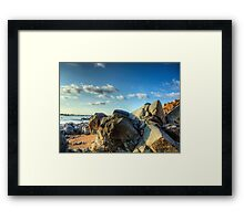 Rocks Near Torgis - Alderney Framed Print