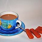 'Tea and fish fingers' by Christine Lake