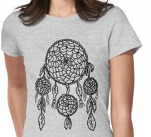 Feather Dreamcatcher Womens Fitted T-Shirt