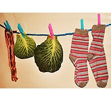'Bacon, Cabbage and Stripey Socks' Photographic Print