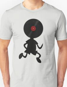 Vinyl Man! Vinylized!!! Vinyl Records DJ Retro Music Lovers T-Shirt Stickers Prints T-Shirt