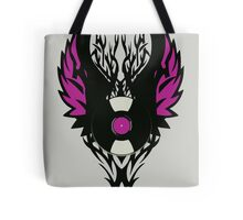 Vinyl Record Retro Punk Spikes Tribal with Wings - Purple Design Tote Bag